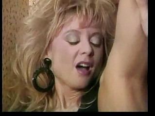 Powder room pussy pounding by two HOT hi heeled lesbians
