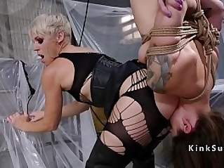 Blonde anal fucks client
