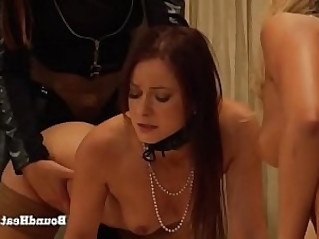 The Education of Erica Two Bent Over Lesbian Slaves Moaning During Hard Strapon Fuck