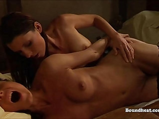 Two Lesbians Using Strapon And Having Orgasms