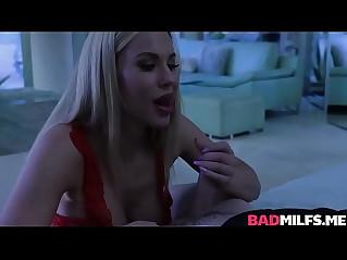Olivia austin gives her husband an attention grabbing blowjob