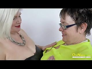 OldNannY Lacey and Honey Lesbian Toys Masturbation