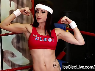 Get ready to lesbo rumble with its cleo and carmen valentina