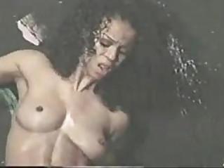Retro Porn Two Gorgeous Black Fucking and Cumming