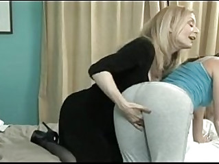 Ariel X fucked by her mom Nina Hartley