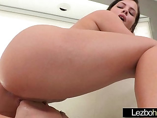 Licking and kissing between horny lez girls