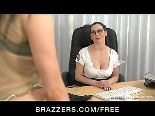 Stunning dominant brunette fucks her student to orgasm