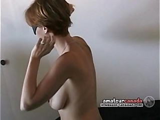 Hairy blonde amateur blindfolded wife wears submissive collar