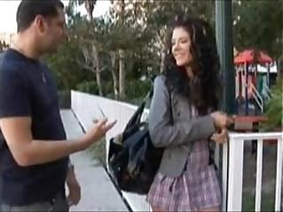 Schoolgirl gets knocked up