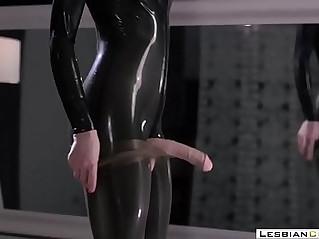 Latex Milf Masturbation Strapon Orgasm