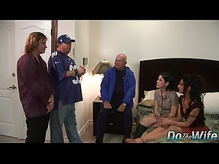 Lesbian watches wife fucked by a porn stud